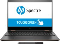 Spectre x360 15-ch003ng (15,6 Zoll / 4K IPS Touchdisplay) Convertible Laptop (Intel Core i7-8550U, 16GB RAM, 256GB SSD, Nvidia GeForce MX150 2GB DDR5, Windows 10 Home 64) grau/kupfer