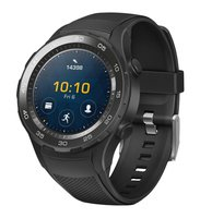 WATCH 2 (Bluetooth) Smartwatch mit schwarzem Sportarmband (NFC, Bluetooth, WLAN, Android Wear™ 2.0) schwarz