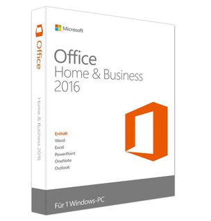 Microsoft Office Home and Business 2016 (Product Key Card ohne Datenträger)