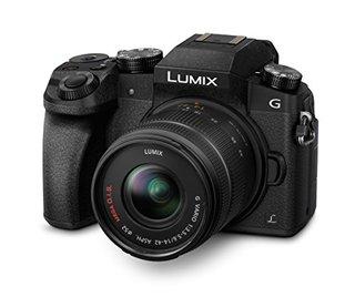 LUMIX G DMC-G70KAEGK Systemkamera (16 Megapixel, OLED-Sucher, 7,5 cm OLED Touchscreen, 4K Foto und Video) mit Objektiv H-FS14042E schwarz